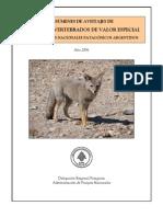 Resumen de Avistajes de Especies de Vertebrados de Valor Especial