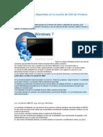Lista de Comandos Disponibles en La Consola de CMD de Windows 7
