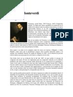 Biografias Claudio Monteverdi