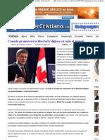 10. Canadá promoverá la libertad religiosa en todo el mundo - Noticias Cristianas