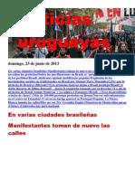 Noticias Uruguayas Domingo 24 de Junio Del 2013