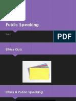 Public SpeakingWK22013