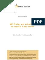 IFMRTrustDiscussionNote-MFIPricingandValuation