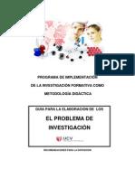 GUÍA DEL INFORME DE PROBLEMAS DE INVESTIGACIÓN