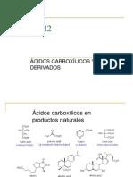 Teoría 8va ACIDOS CARBOXILICOS Y DERIVADOS QO