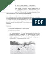 APLICACIÓN DE LA GEOMETRIA A LA TOPOGRAFIA