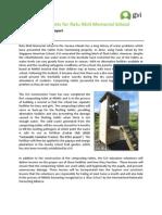 Achievement Report April 2013 - Composting Toilets