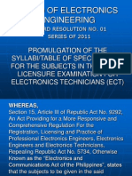 Board Resolution No 1 for ECT 2011