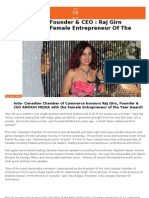 Anokhi Media - Raj Girn Female Entrepreneur of the Year May 2013