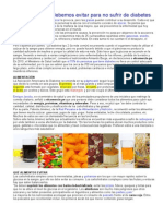 Alimentos Pa No Sufrir Diabetes