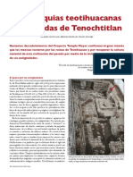 Articulo de Arqueologia Mexicana; Mas Reliquias Teotihuacanas en Ofrendas de Tenochtitlan.