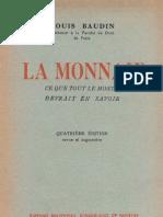 Baudin, Louis - La Monnaie. Ce Que Tout Le Monde Devrait en Savoir