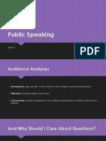 Public SpeakingWK32013