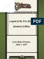 L5R CCG - 6 Samurai Edition Basic Ruebook