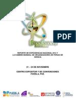 Reporte ExpoCiencias Nacional 2012