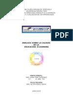Analisis Calidad de Educ. E-Learning