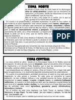 Caracteristicas Zonas de Chile