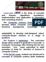 COMPUTER SCIENCE is the Study of Concepts and Theories
