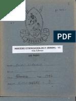 Mbeere Ethnozoology (Birds) - VI