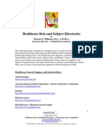 Healthcare Bots and Subject Directories