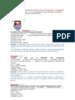 Conectores Gramaticales Ejercicios en Español