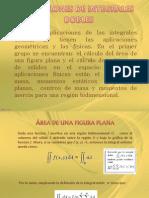 aplicaciones integrales DOBLES