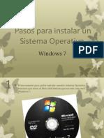 Pasos Para Instalar Un Sistema Operativo