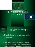 How to Generate Stories