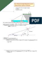 Relations trigonométriques dans un triangle quelconque