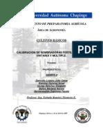 CALIBRACIÓN DE SEMBRADORAS FERTILIZADORAS UNITARIA Y MÚLTIPLE222