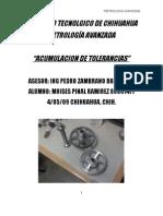 ACUMULACION DE TOLERANCIAS