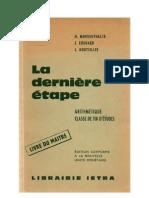 Mathématiques Classiques 12 (8e-7e CM1-CM2) Morgenthaler Livre du Maitre La dernière étape
