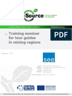 SpeechTraining Seminar for Tour Guides in Mining Regions