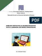 Analisis Critico Cal. Educ. en El e Learning