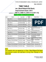 Time-Table of II Sem Back Improvement Exam (June-July 2013)