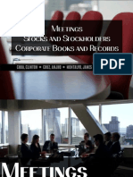 Meetings, Stocks and Stockholders, Corporate Books and Records under the Civil Code of the Philippines