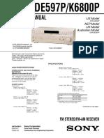 Sony Str-De597