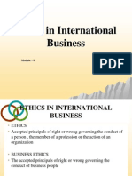 Mod 8 - Ethics in International Business