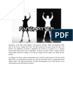 Antimatter- A Synopsis