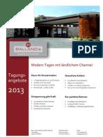 Tagungshotel Balland's