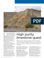 Reconnaissance Assessment of High-purity Limestone Plus References