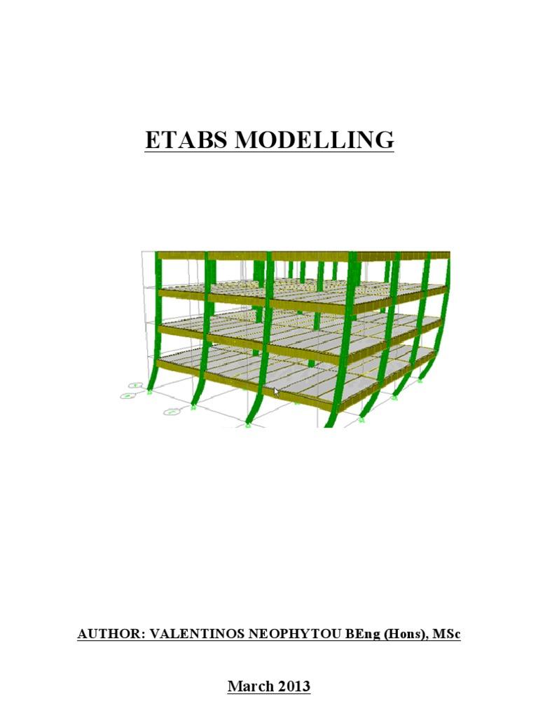 etabs modeling | Beam (Structure) | Bending