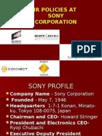 sony HR practices