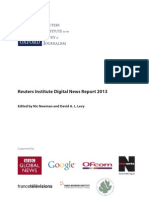 Reuters Institute Digital News Report 2013