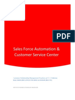 TCS Customer Service Center & Sales Force Automation