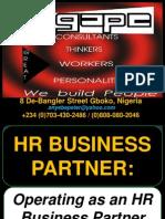 Operating as an HR Business Partner