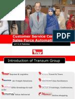 Presentation on TCS Customer Service Center & Sales Force Automation