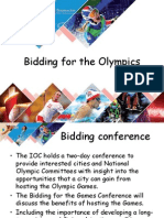 Bidding for the Olympics