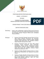 Peraturan Menteri Pekerjaan Umum Nomor 14 Tahun 2010