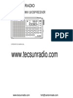 Tecsunradio PL 380 English Manual PDF